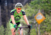 Gage Hecht takes the final gravel KOM climb at the 2017 Montana
